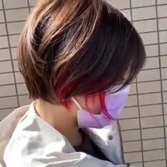 丸みショート ショートカット ショートヘア ナチュラル ヘアスタイルや髪型の写真・画像