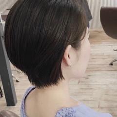ショートボブ ナチュラル可愛い ショート 大人ショート ヘアスタイルや髪型の写真・画像