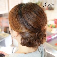 ヘアアレンジ 簡単ヘアアレンジ 和装 ミディアム ヘアスタイルや髪型の写真・画像
