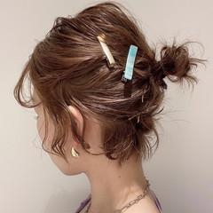 ショート女子 ショートボブ おだんご ボブ ヘアスタイルや髪型の写真・画像