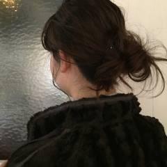 ゆるふわ ワンレングス ヘアアレンジ ボブ ヘアスタイルや髪型の写真・画像