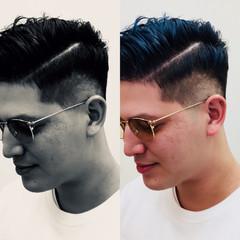 ショート ストリート ポンパドール メンズ ヘアスタイルや髪型の写真・画像