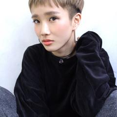 外国人風 ハイライト ストリート ショート ヘアスタイルや髪型の写真・画像