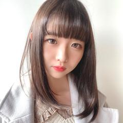 かわいい ナチュラル可愛い 透明感カラー デート ヘアスタイルや髪型の写真・画像