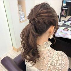 セルフヘアアレンジ 結婚式アレンジ コテ巻き 簡単ヘアアレンジ ヘアスタイルや髪型の写真・画像