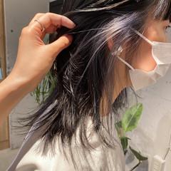 ブルージュ 透明感カラー レイヤーカット インナーカラー ヘアスタイルや髪型の写真・画像
