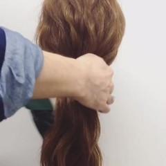 ゆるふわ 簡単ヘアアレンジ 大人かわいい フェミニン ヘアスタイルや髪型の写真・画像