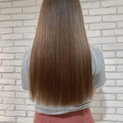 縮毛矯正 ハイトーンカラー ストレート 韓国ヘア ヘアスタイルや髪型の写真・画像