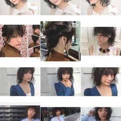 外ハネ 大人女子 ストリート ボブ ヘアスタイルや髪型の写真・画像
