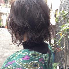 簡単 ボブ デート ナチュラル ヘアスタイルや髪型の写真・画像