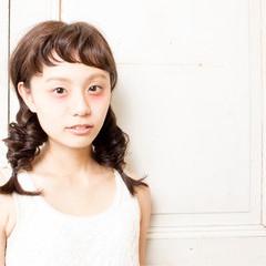 セミロング ヘアアレンジ 三つ編み 簡単ヘアアレンジ ヘアスタイルや髪型の写真・画像