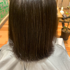 ナチュラル ショートボブ ボブ 縮毛矯正 ヘアスタイルや髪型の写真・画像