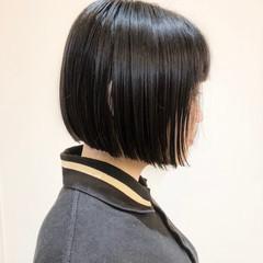 ショートボブ モード ショート 小顔 ヘアスタイルや髪型の写真・画像