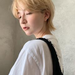 ショートヘア ウルフ女子 ナチュラル ウルフカット ヘアスタイルや髪型の写真・画像