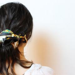 女子会 ウェーブ ヘアアレンジ デート ヘアスタイルや髪型の写真・画像