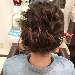 フェミニン 簡単ヘアアレンジ ボブ 大人かわいい ヘアスタイルや髪型の写真・画像