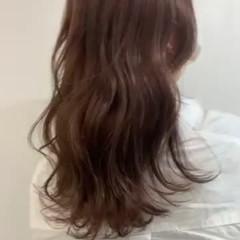 透明感カラー 韓国ヘア レイヤースタイル エレガント ヘアスタイルや髪型の写真・画像