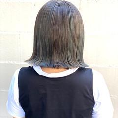 ボブ ヘアカラー モード 透明感カラー ヘアスタイルや髪型の写真・画像