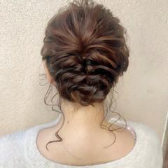 アンニュイほつれヘア ナチュラル セミロング ヘアセット ヘアスタイルや髪型の写真・画像