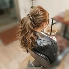 ヘアアレンジ フェミニン ガーリー ロング ヘアスタイルや髪型の写真・画像