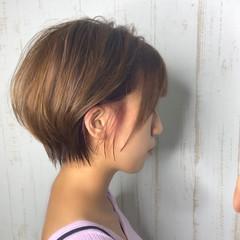 ショートボブ ショートヘア ミニボブ ショート ヘアスタイルや髪型の写真・画像