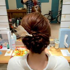 ゆるふわ ねじり ミディアム 編み込み ヘアスタイルや髪型の写真・画像