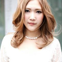 外国人風 小顔 セミロング 大人かわいい ヘアスタイルや髪型の写真・画像