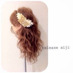 簡単ヘアアレンジ アンティーク 大人かわいい ヘアアレンジ ヘアスタイルや髪型の写真・画像