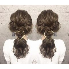 三つ編み ブライダル セミロング 外国人風 ヘアスタイルや髪型の写真・画像