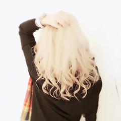 金髪 ハイトーン 外国人風 ロング ヘアスタイルや髪型の写真・画像