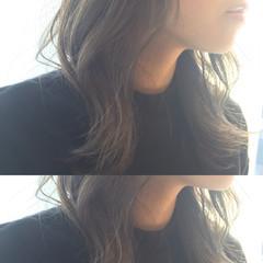 大人かわいい グレージュ ナチュラル ハイライト ヘアスタイルや髪型の写真・画像