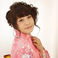 花火大会 ヘアアレンジ ゆるふわ ガーリー ヘアスタイルや髪型の写真・画像