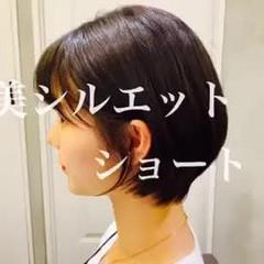 コンパクトショート ショートボブ ショート ナチュラル ヘアスタイルや髪型の写真・画像