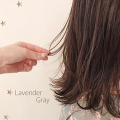 ミディアムレイヤー 大人女子 大人かわいい 大人可愛い ヘアスタイルや髪型の写真・画像
