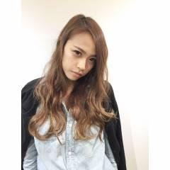 外国人風 ストリート ロング グラデーションカラー ヘアスタイルや髪型の写真・画像