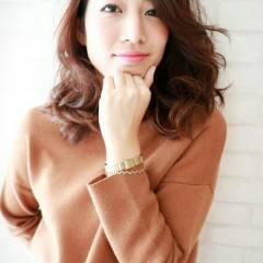 ゆるふわ ヘアアレンジ コンサバ セミロング ヘアスタイルや髪型の写真・画像