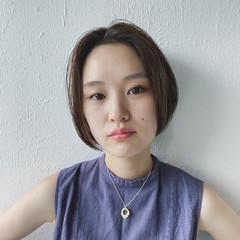 ショートボブ ナチュラル 大人女子 ボブ ヘアスタイルや髪型の写真・画像