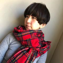 ショート 外国人風カラー マッシュヘア マッシュ ヘアスタイルや髪型の写真・画像