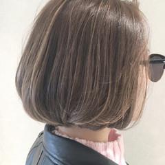 外国人風 パーマ グラデーションカラー ボブ ヘアスタイルや髪型の写真・画像