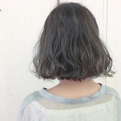 切りっぱなし ブルーアッシュ 外国人風 外国人風カラー ヘアスタイルや髪型の写真・画像