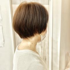 ゆるふわ ストレート くせ毛 ショートボブ ヘアスタイルや髪型の写真・画像