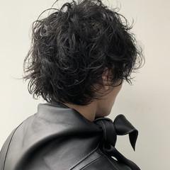 ショート メンズヘア モード パーマ ヘアスタイルや髪型の写真・画像