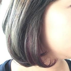 ボブ ストリート 外国人風カラー インナーカラー ヘアスタイルや髪型の写真・画像