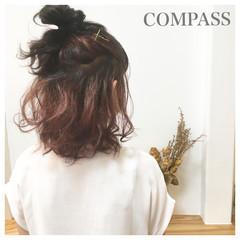簡単ヘアアレンジ 涼しげ 夏 色気 ヘアスタイルや髪型の写真・画像