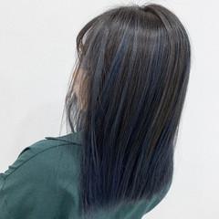 ハイライト ブリーチ セミロング バレイヤージュ ヘアスタイルや髪型の写真・画像
