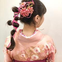 ヘアセット ナチュラル 袴 卒業式 ヘアスタイルや髪型の写真・画像
