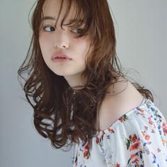 ゆるふわ 外国人風 ミディアム パーマ ヘアスタイルや髪型の写真・画像