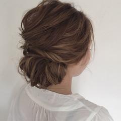 エレガント ミディアム 花火大会 ヘアアレンジ ヘアスタイルや髪型の写真・画像