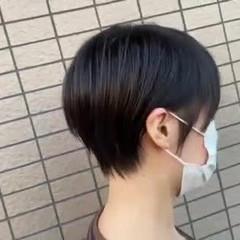 丸みショート ショートボブ ショートヘア ショート ヘアスタイルや髪型の写真・画像