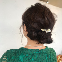ミディアム ヘアアレンジ 簡単ヘアアレンジ デート ヘアスタイルや髪型の写真・画像